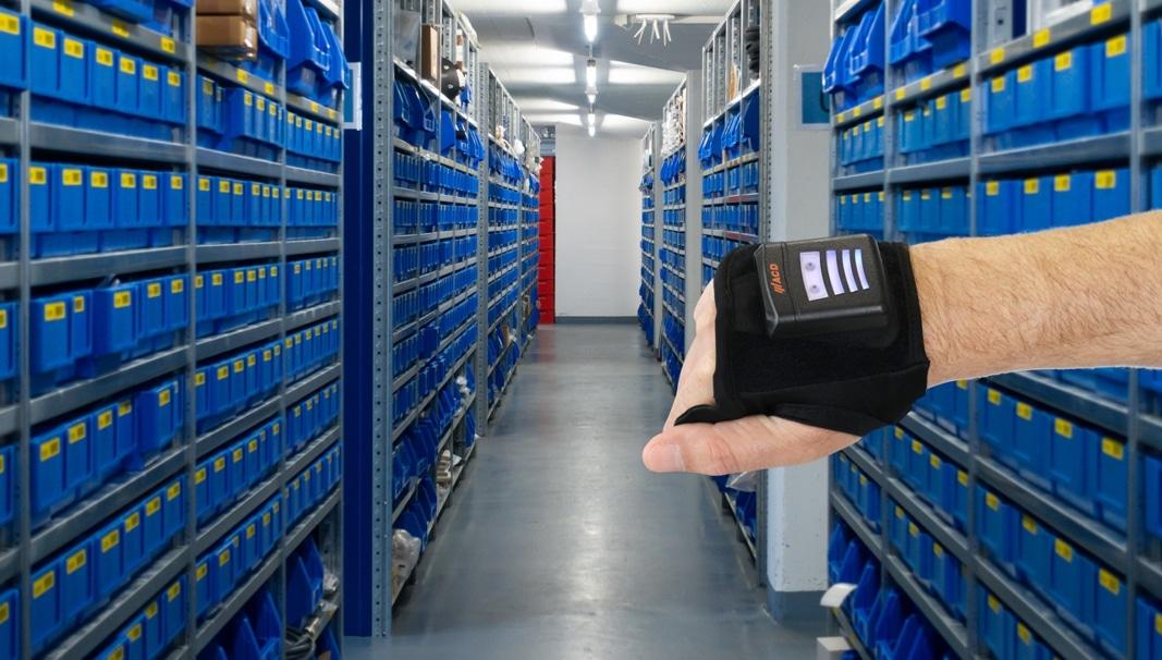 Handrückenscanner mit Handstulpe