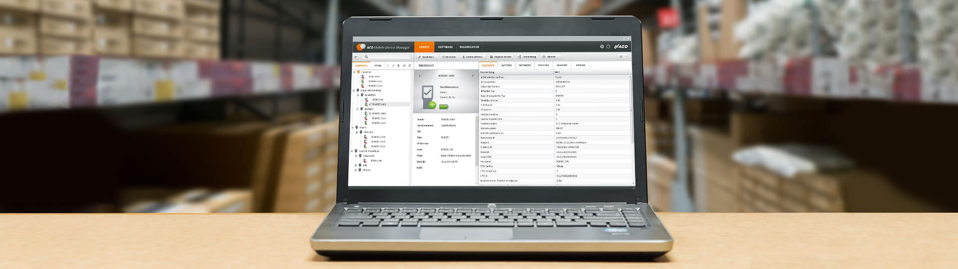 ACD Mobile Device Manager – multifunktionale ACD Anwendungen