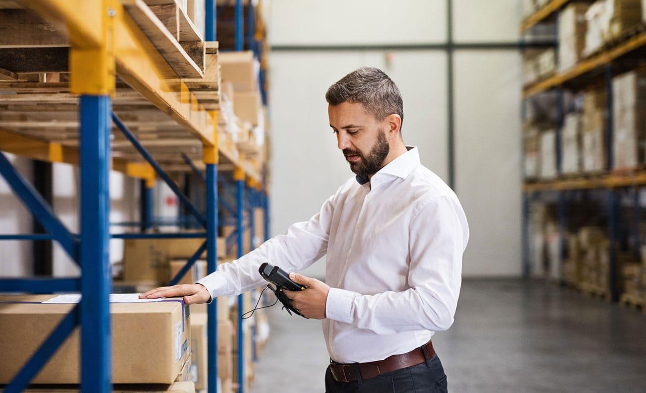 Entrepôt appareils portables de travail mobiles