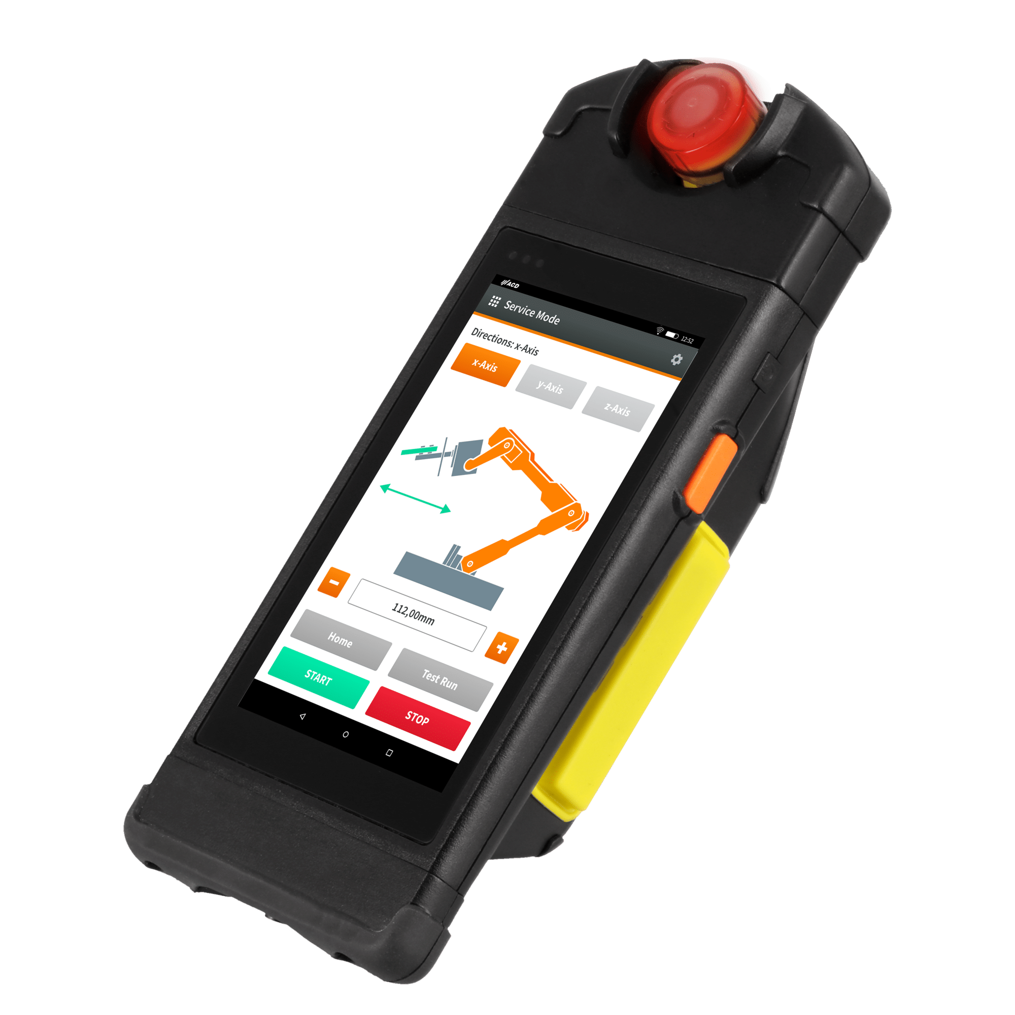 M2SmartSE with M2Safety illuminated emergency stopp