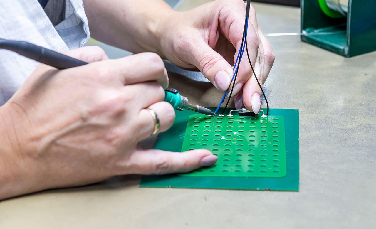Professional hand soldering