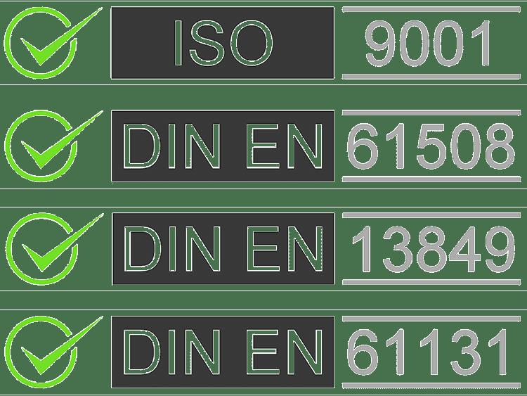 DIN-certificates