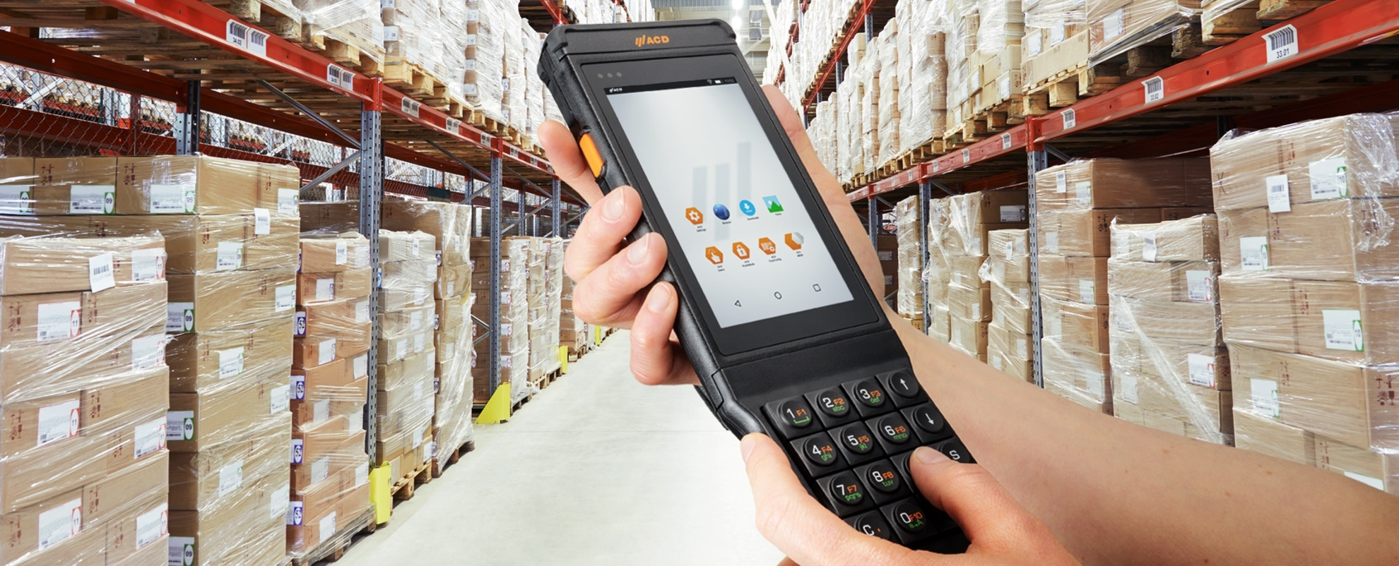 M2SmartSE with M2Key16 logistics in warehouse