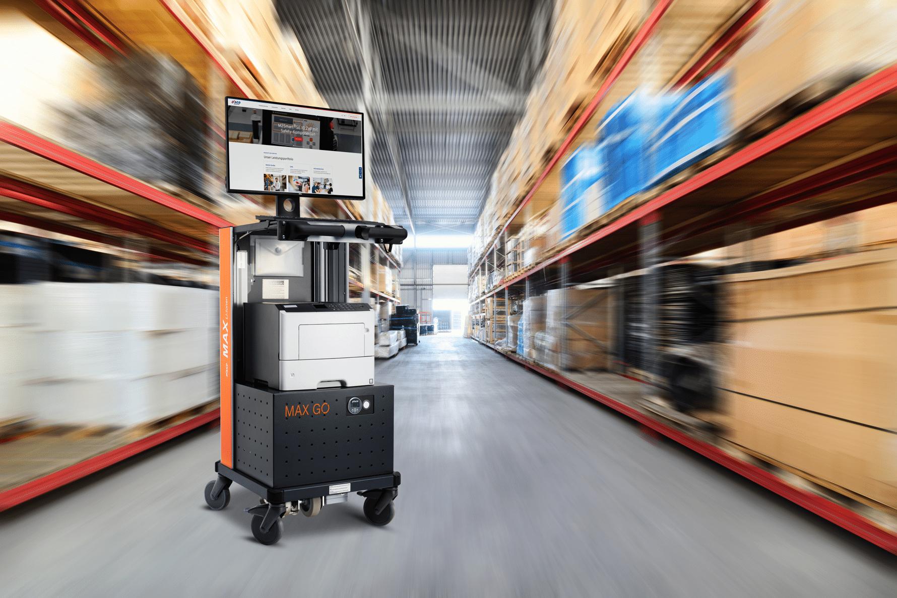 Mobiler Arbeitsplatz MAX GO Logistik
