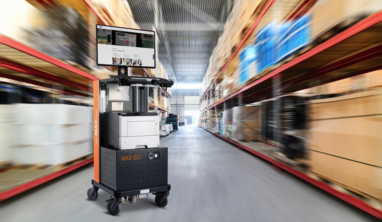 Mobiler Arbeitsplatz MAX GO Logistik Beitragsbild